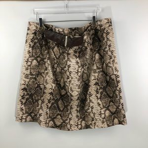 Micheal Kors • Snake Print Mini Skirt